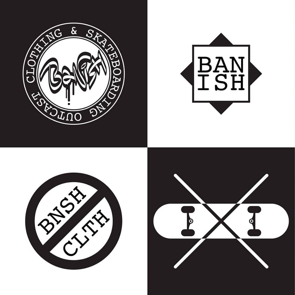 BANISH Clothing & Skateboarding LOGO - different variants