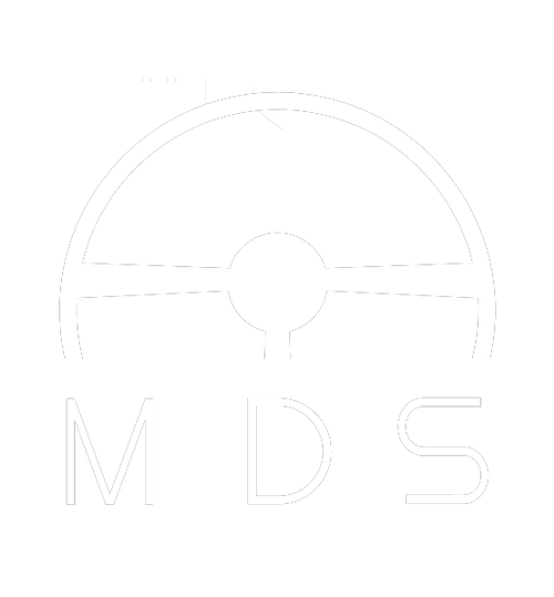 MDS Driving School Southampton LOGO White