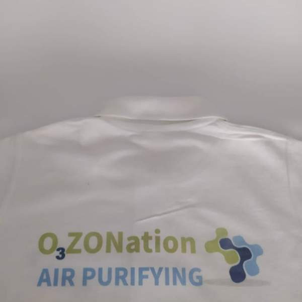 O3ZONation Logo Printed on a polo shirt