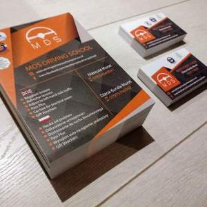 MDS Driving School Southampton Business Cards
