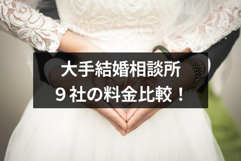 大手結婚相談所9社の料金比較!一番良い結婚相談所はどこ?