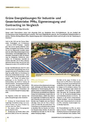 Grüne Energielösungen für Industrie- und Gewerbebetriebe