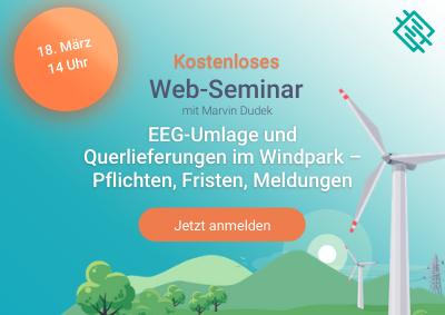 Anmeldung zum kostenlosen Web-Seminar zur EEG-Umlage im Windpark