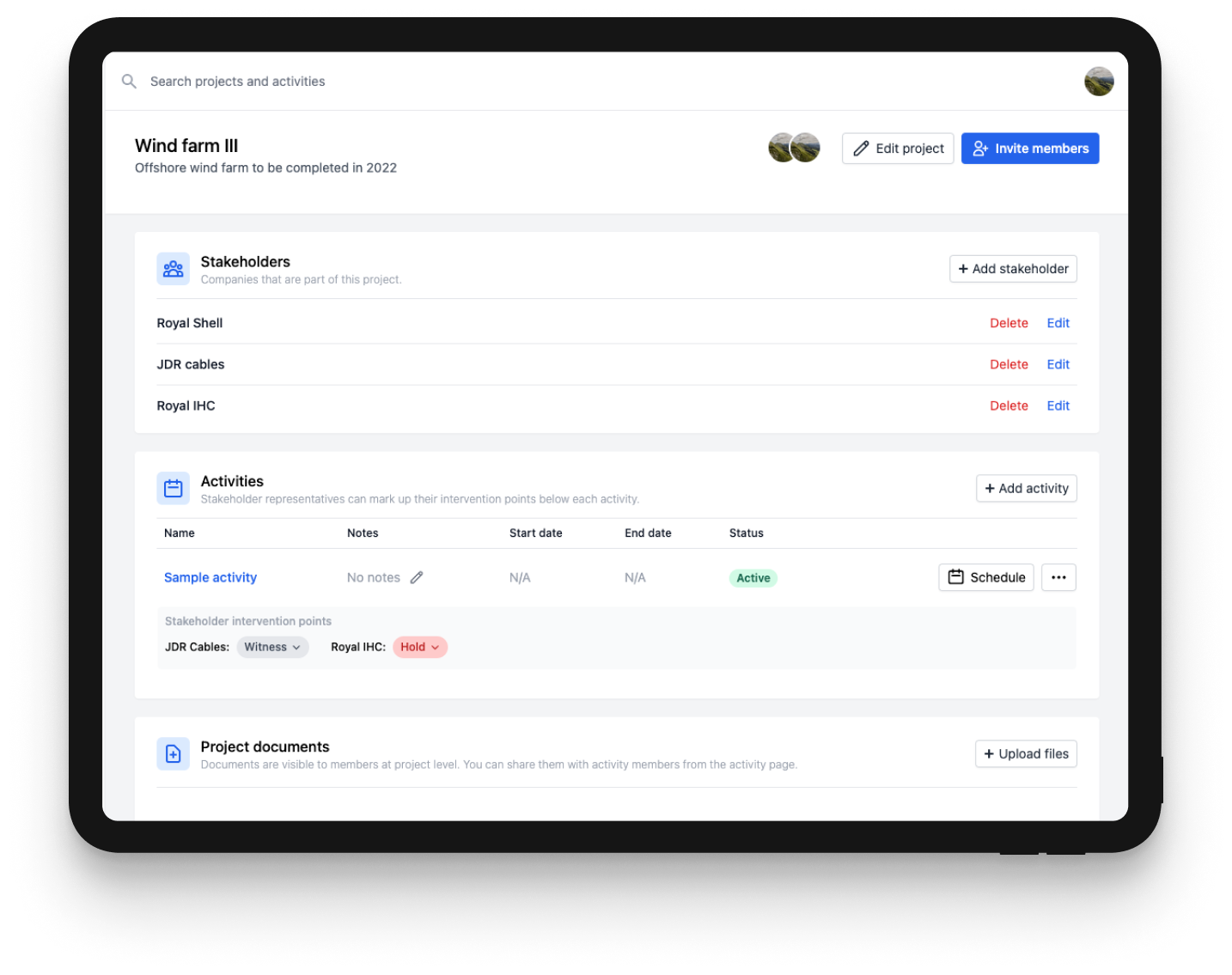 BuildStream platform screenshot
