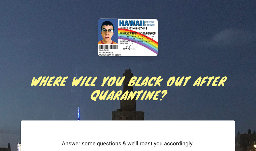 Where Will You Black Out After Quarantine?