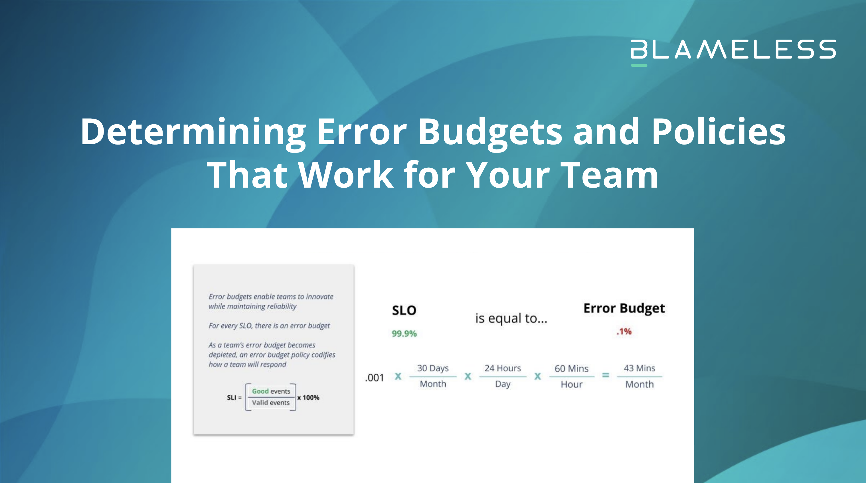 Determining Error Budgets and Policies that Work for Your Team