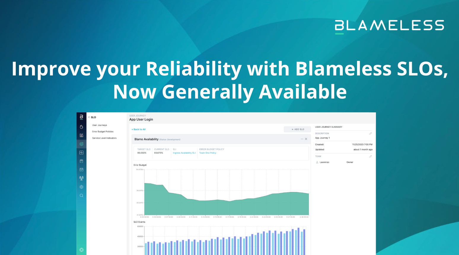 Improve your Reliability with Blameless SLOs, Now Generally Available