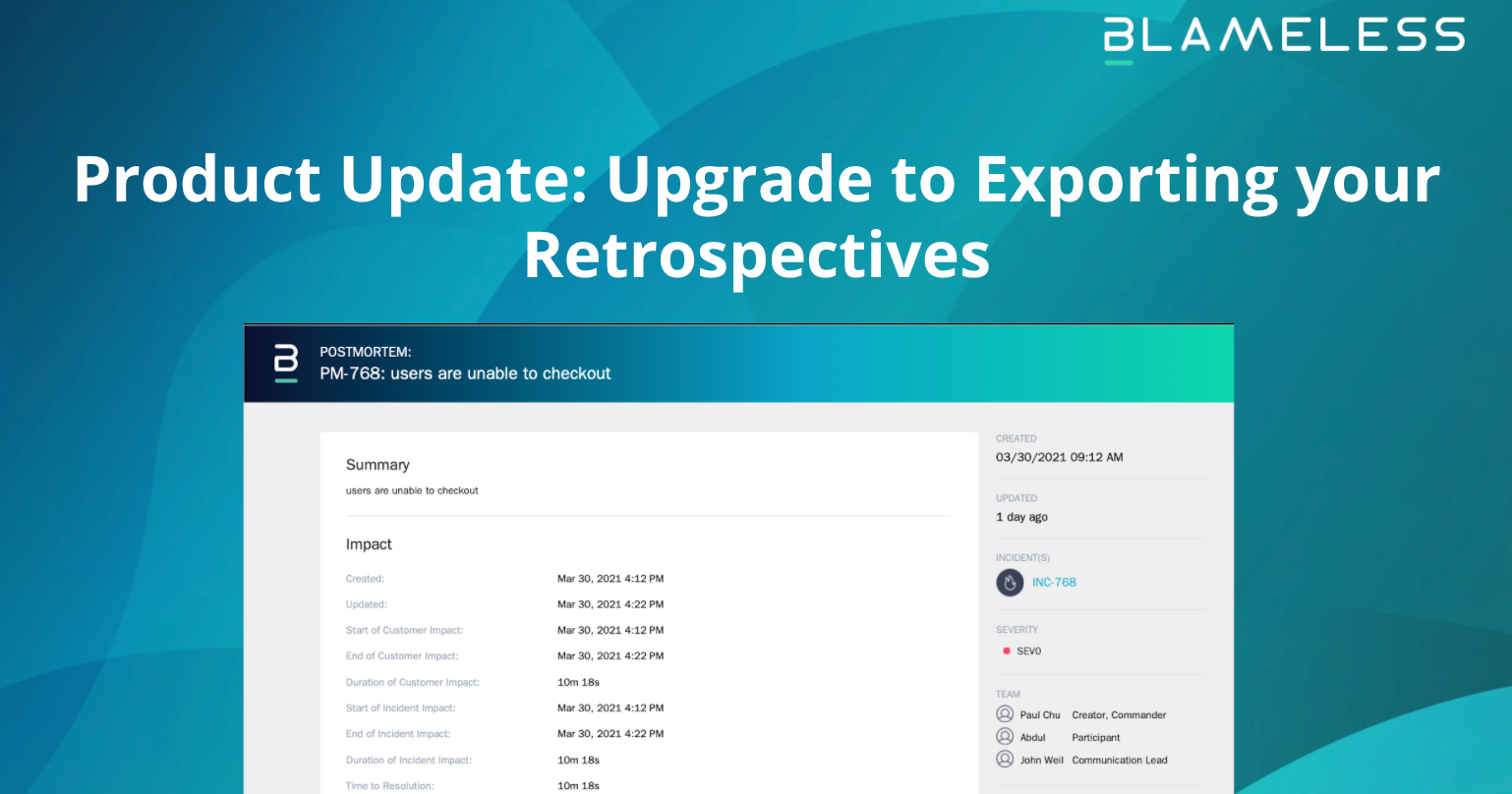 Product Update: Upgrade to Exporting your Retrospectives