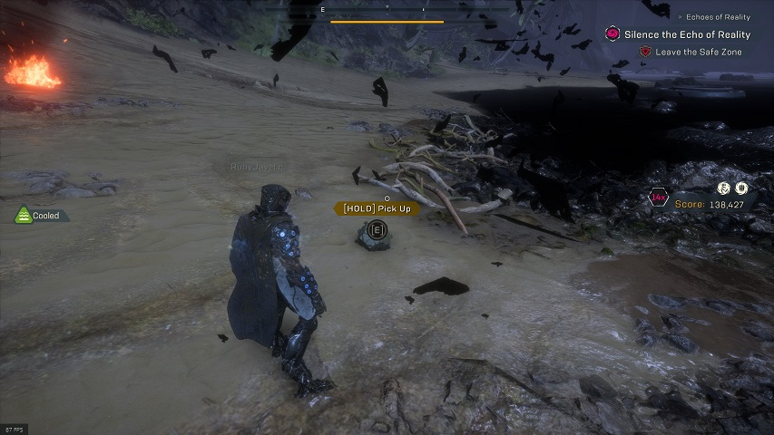 Anthem Cataclysm Beach relic location, the Approach