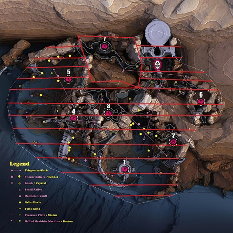 Anthem Cataclysm map of the Dark Passage region