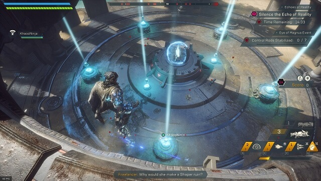 "An overview of the ""Ring of Magnus"" arena in Anthem's Cataclysm"
