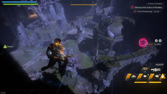 "An overview of the ""Castle Kelrik"" arena in Anthem's Cataclysm"