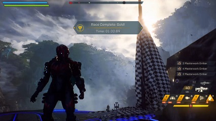 Anthem Fortress Run Time Trial Record Storm