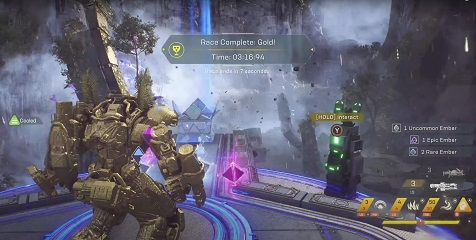 Anthem Watcher's Run Time Trial Record Colossus