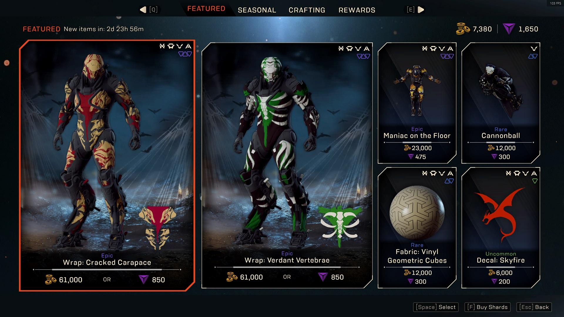 Anthem Featured store, October 16, 2020
