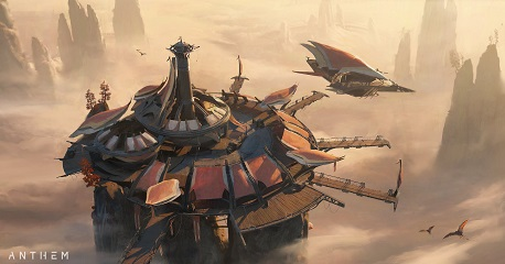 Anthem NEXT Sky dock with Pirate air ship