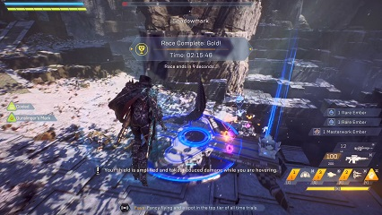 Anthem Dark Water Run Time Trial Record Storm