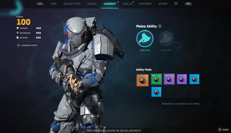 Anthem Next 2.0 Blog post Mod slots