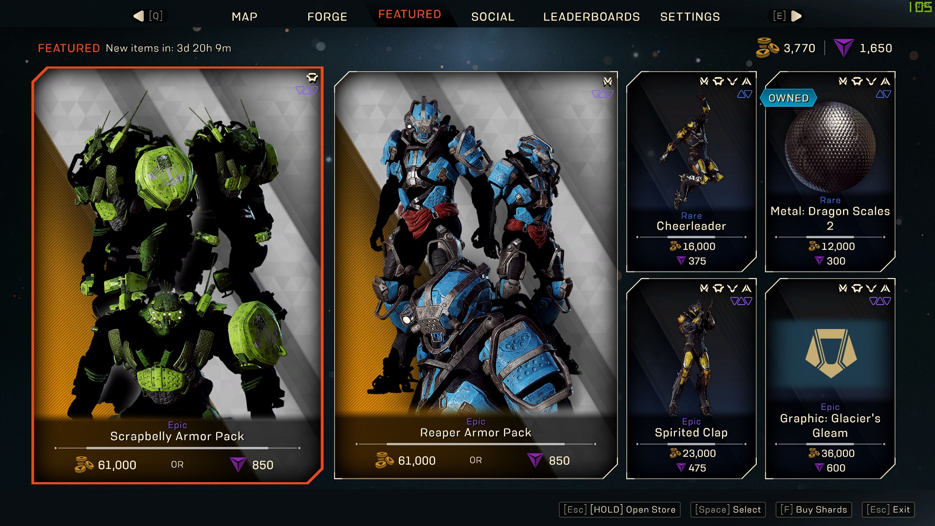 Anthem Featured store rotation, January 22, 2021