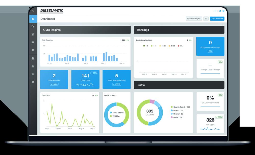 Dieselmatic's proprietary Client Portal