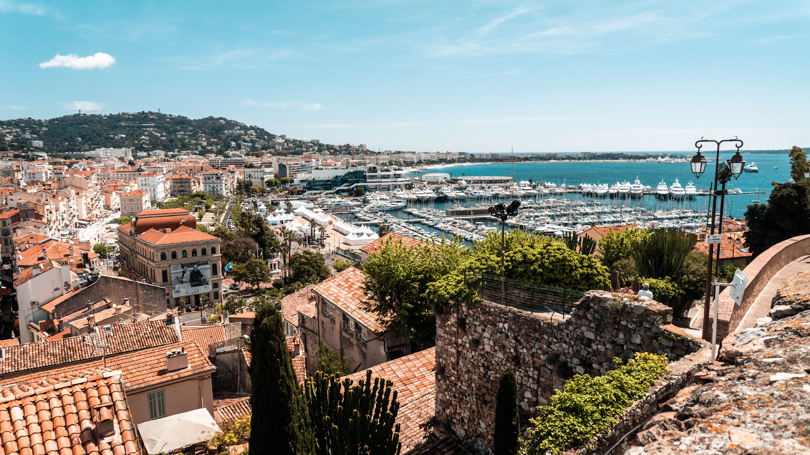 A view of Cannes and its harbour