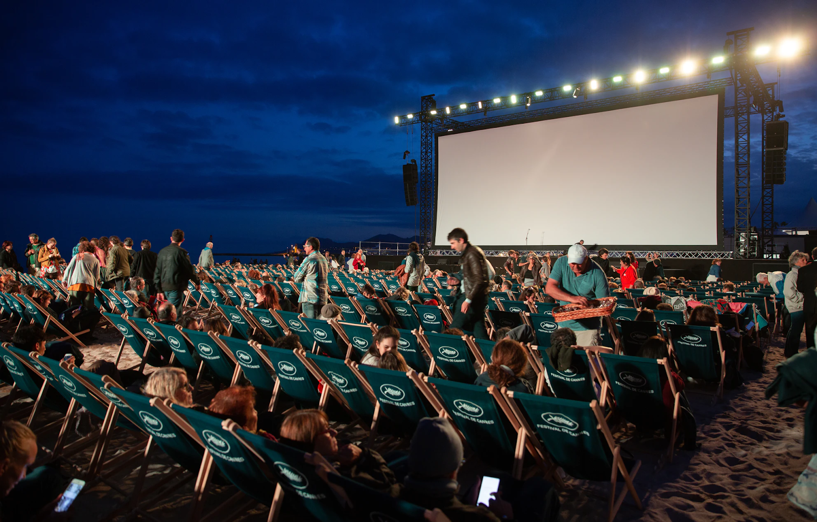Screening of a movie at the Cannes FilmFestival
