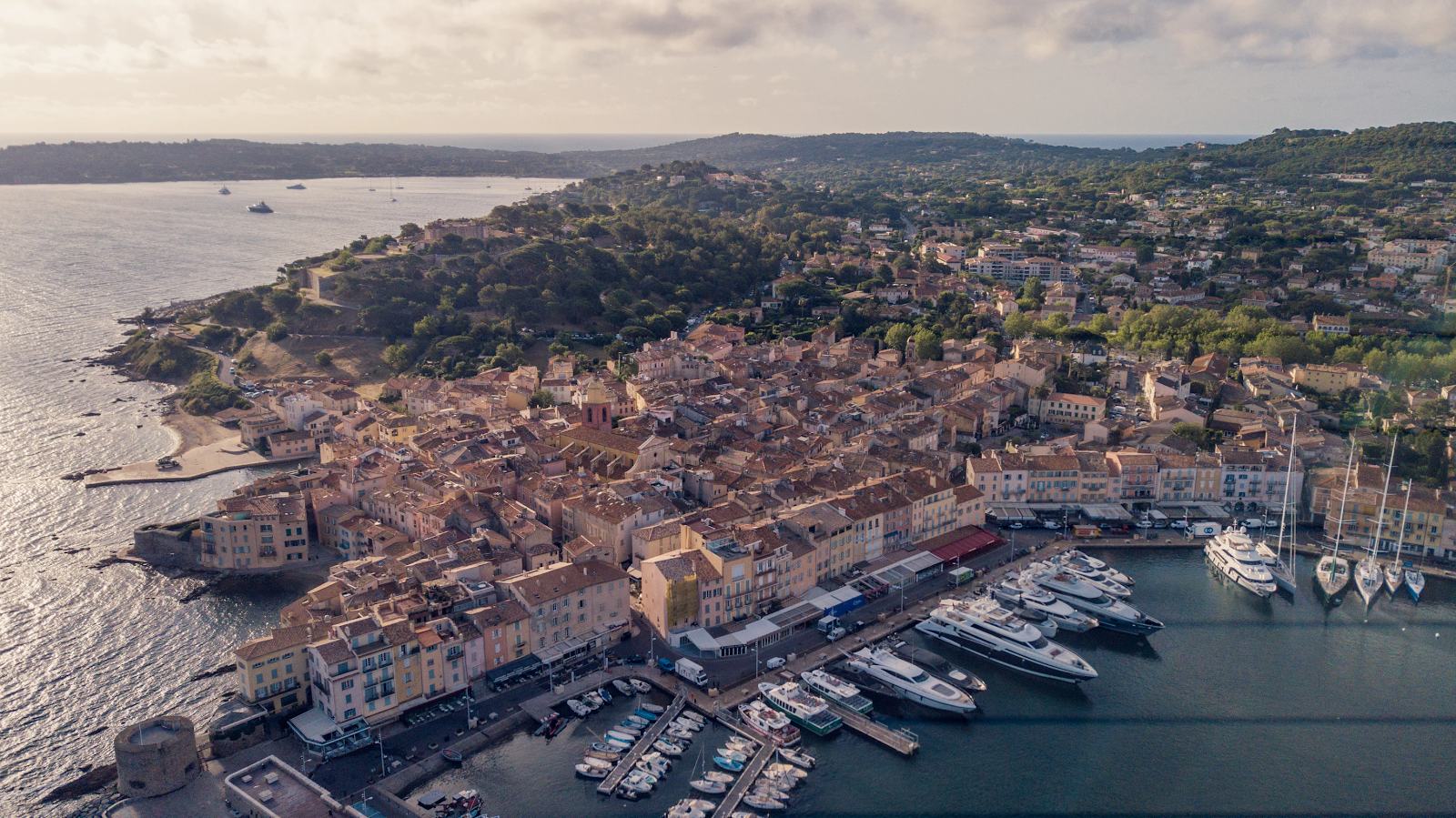 View of Saint Tropez from the sky