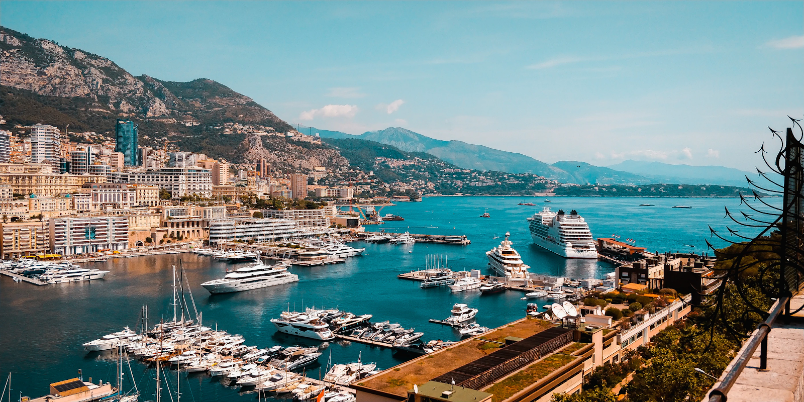 View of Monaco by the sea