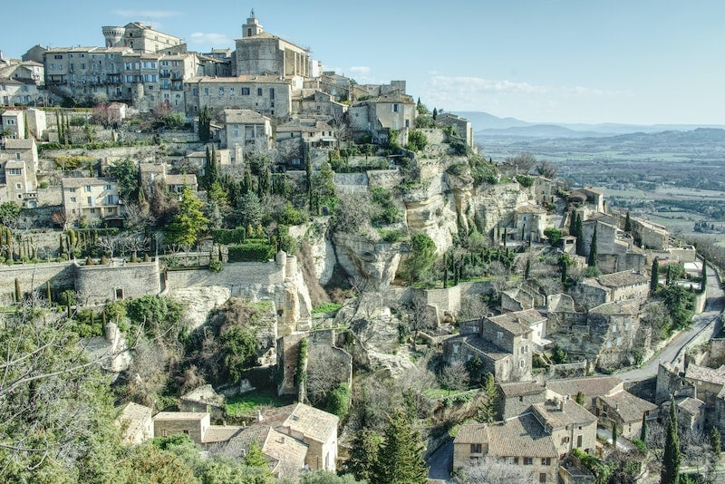 Small French village over a rock - Gordes, France