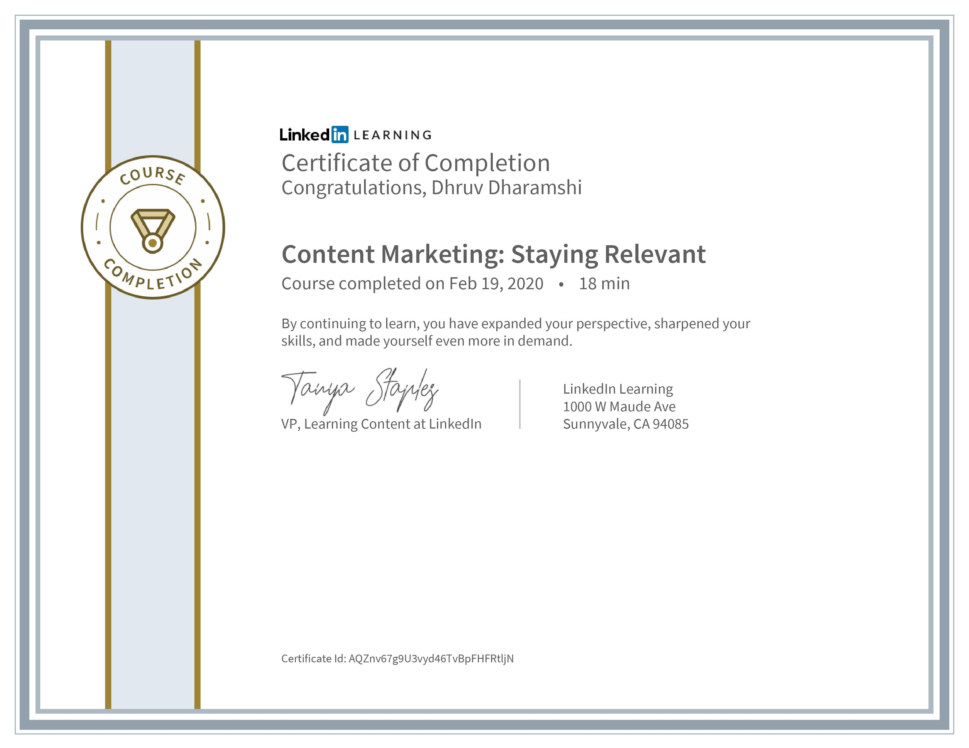 Content Marketing: Staying Relevant