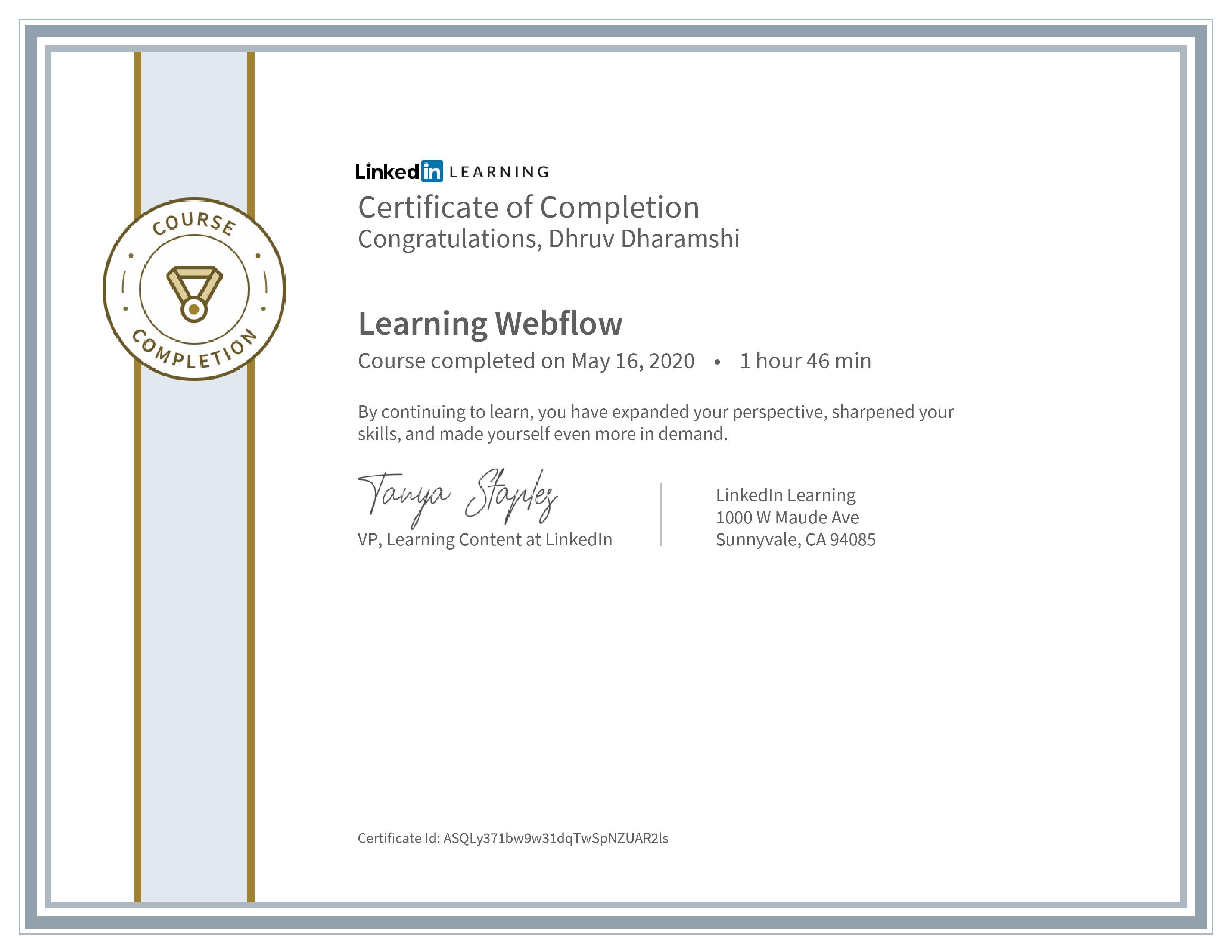 Learning Webflow