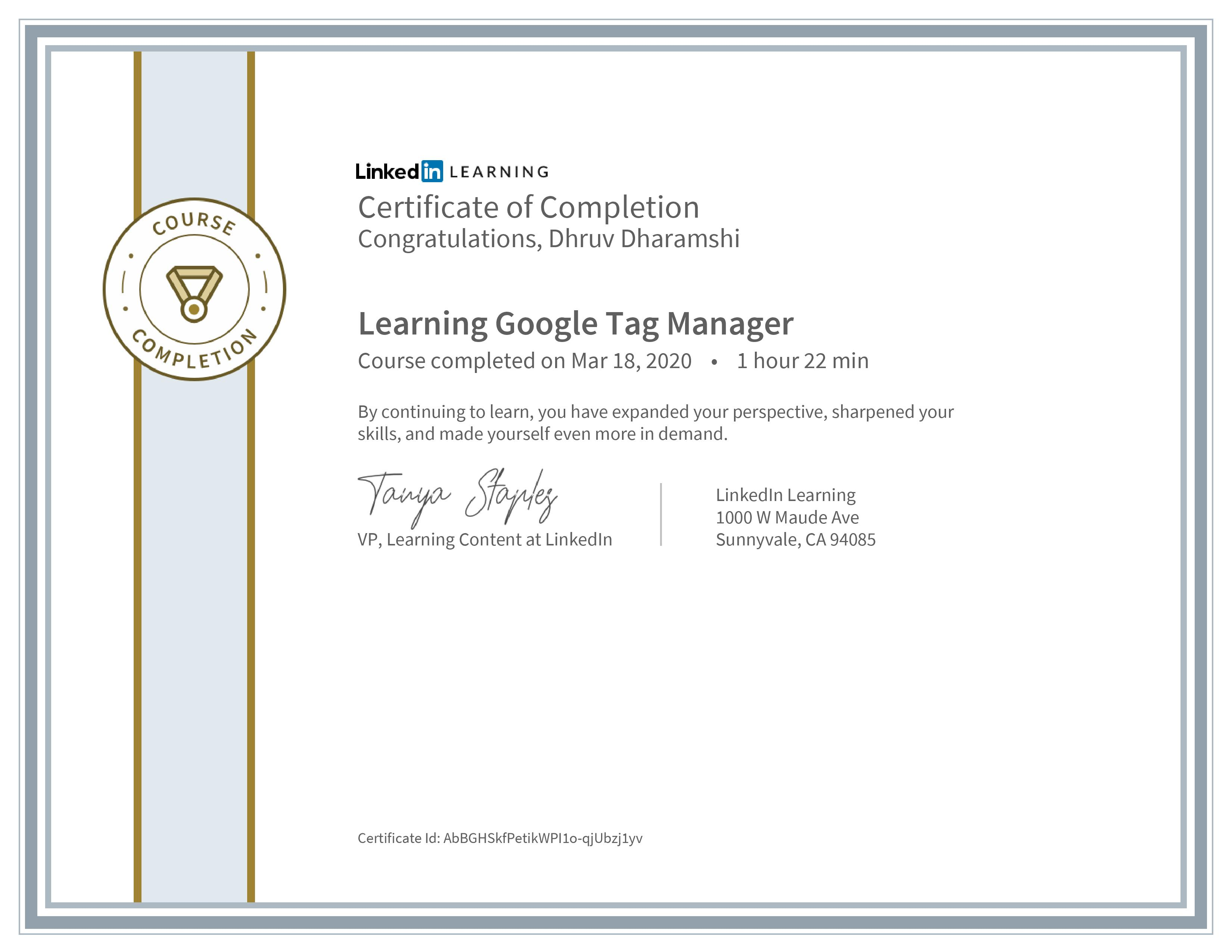 Learning Google Tag Manager