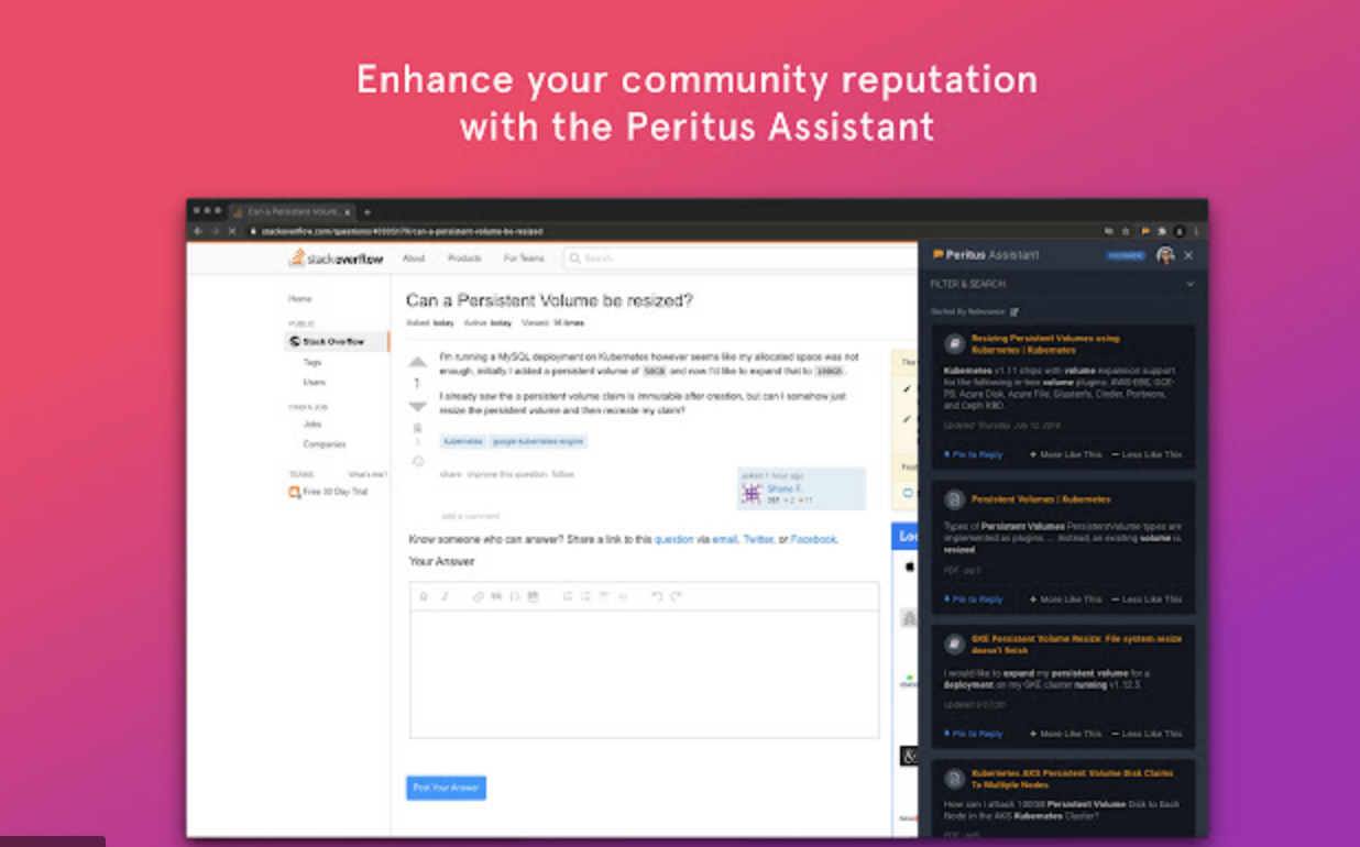 How  Peritus.ai uses AI recommendations to make tech workers more productive?