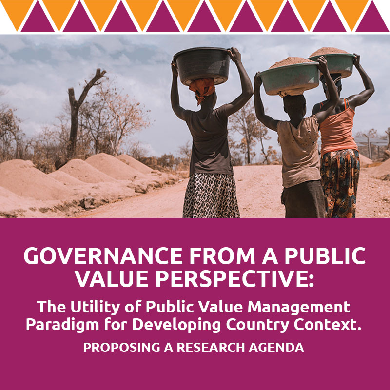 Governance from a public-value perspective: The utility of a public-value management paradigm for developing country context – Proposing a research agenda