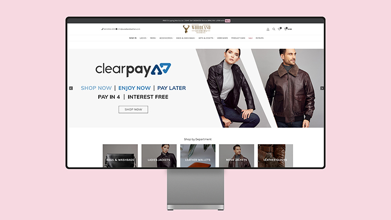 Woodland Leathers Ecommerce Website