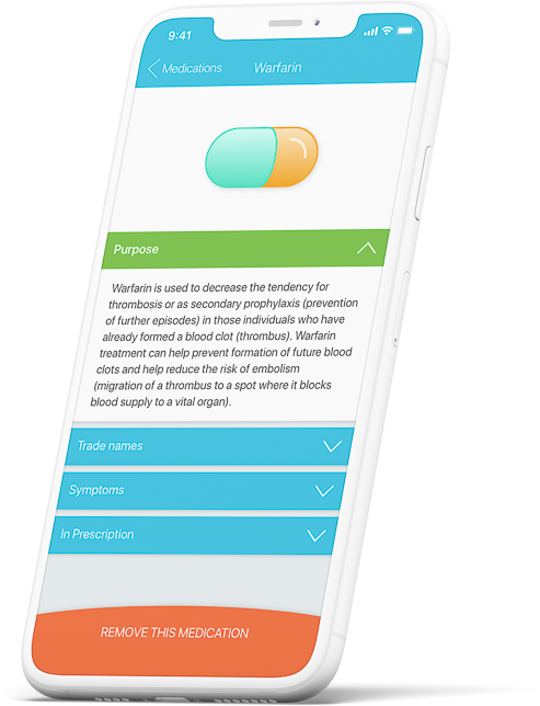 Laymens terms medication information on mobile app