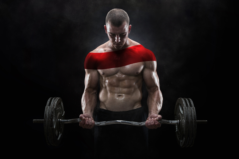 Man carrying a barbell