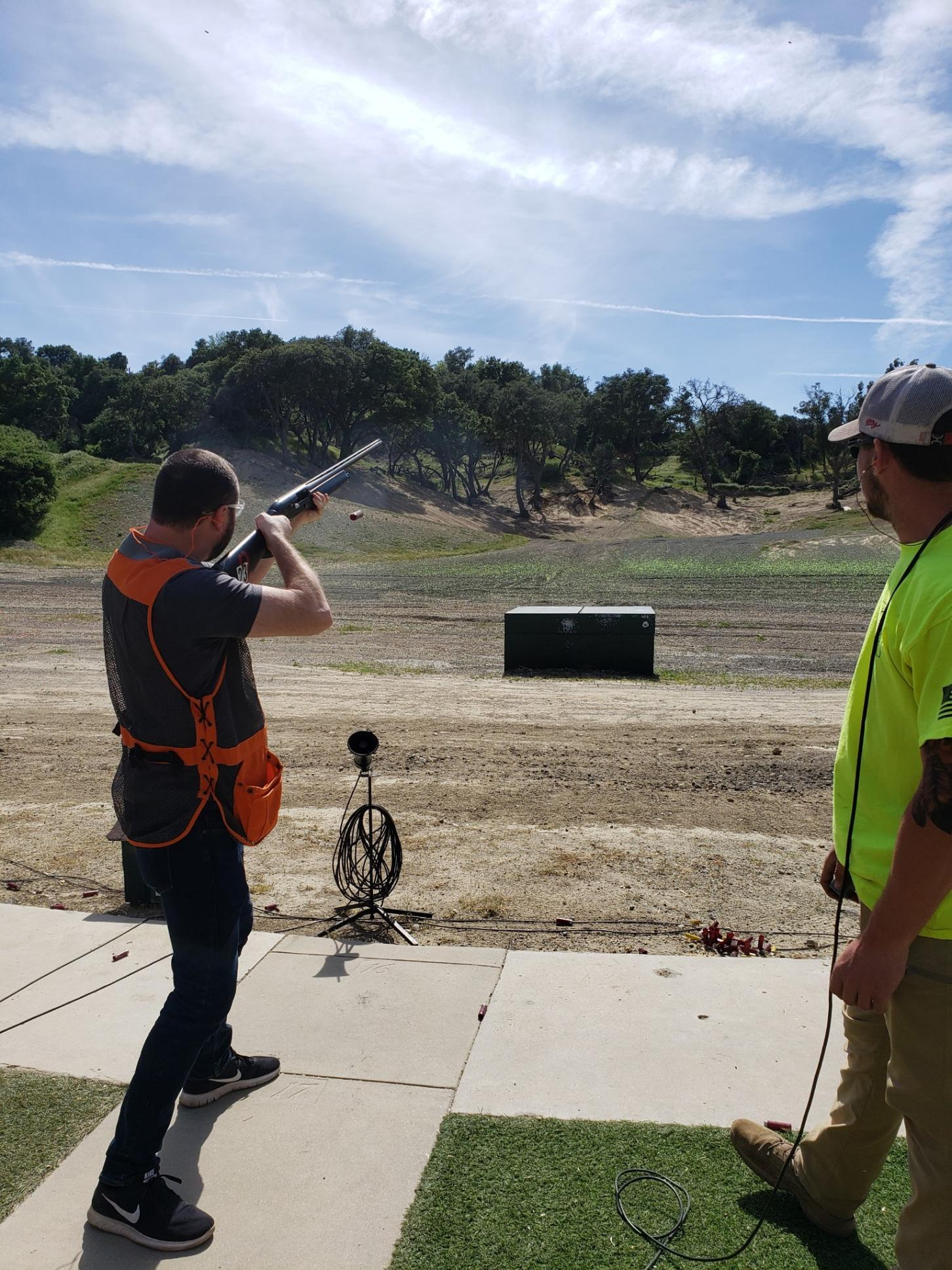 Bryan at the range, showing us how its done.