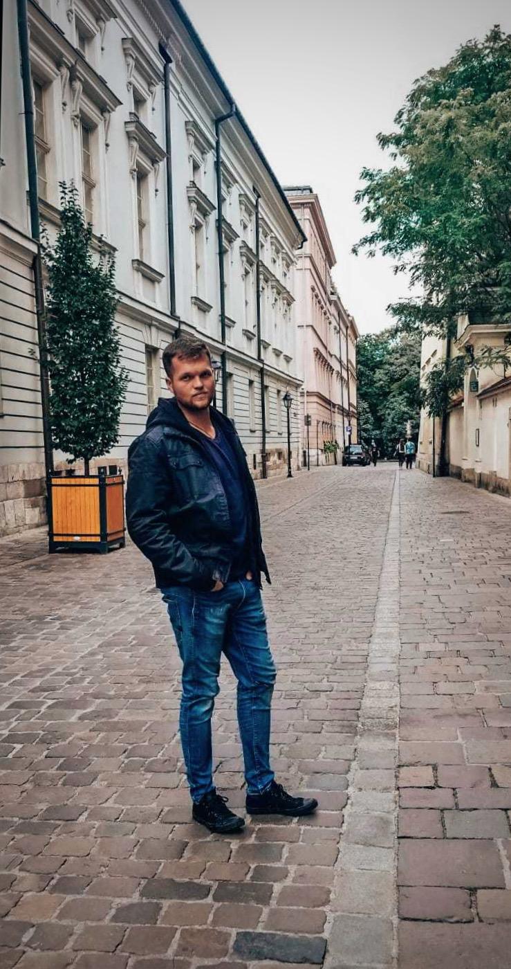 Jakub exploring the streets of Europe
