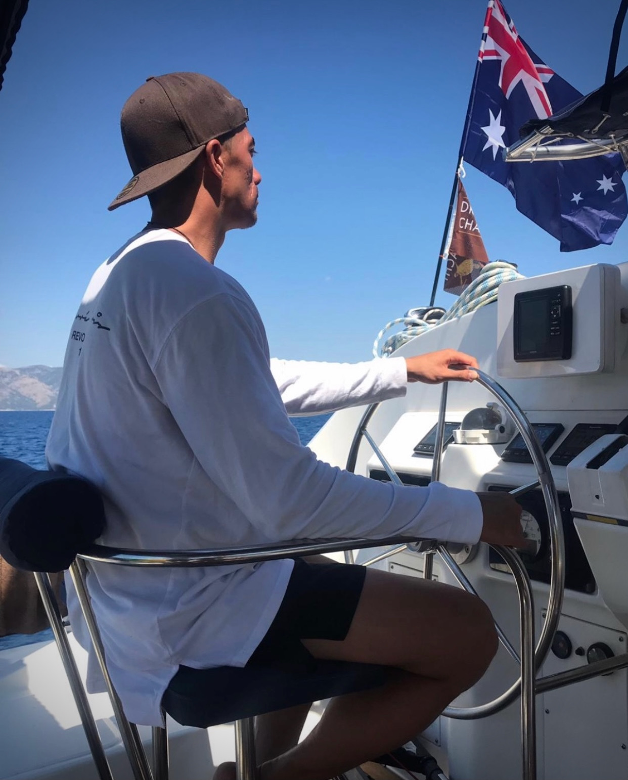 Kev out on the water!