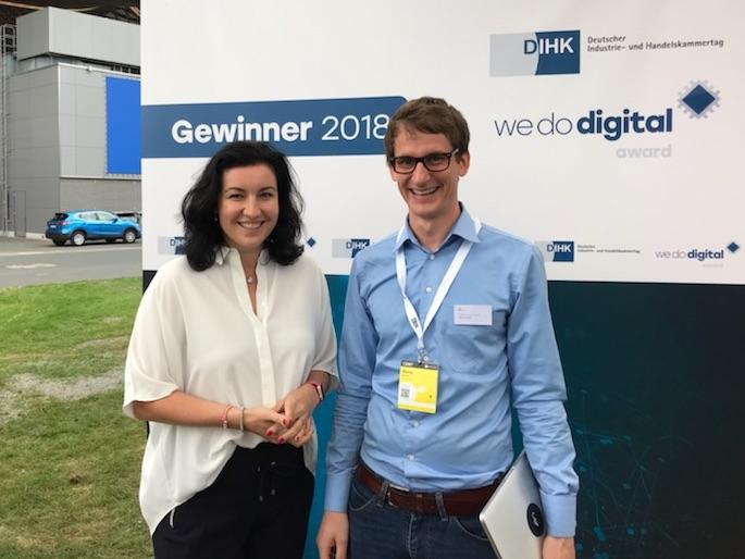 We Do Digital Award 2018 fileee Dorothee Bär Marius Gerwinn