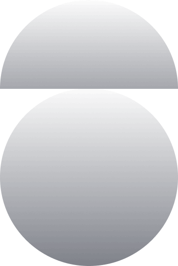 Decorative circle and half circle
