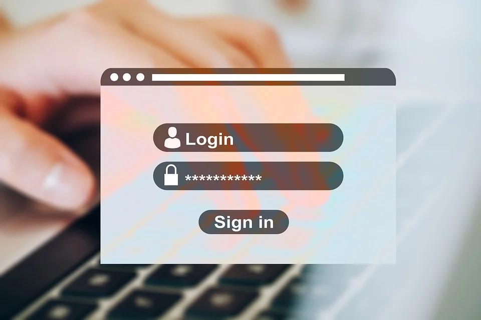 Example of OKTA IAM log in form