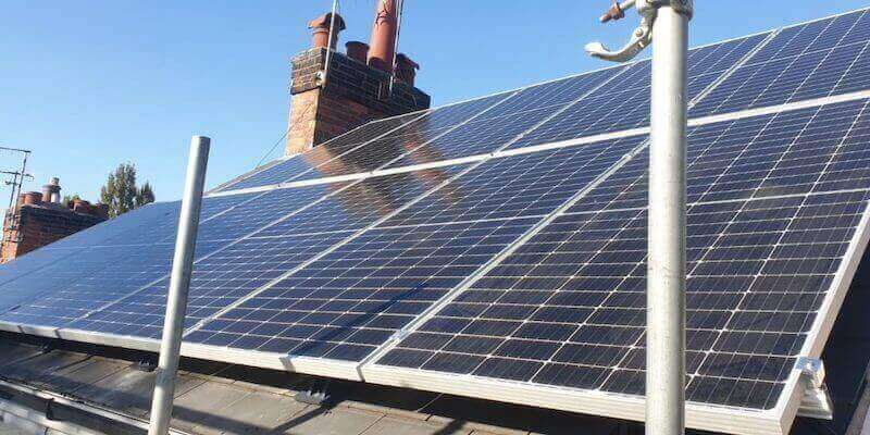 Image of solar panels on a house