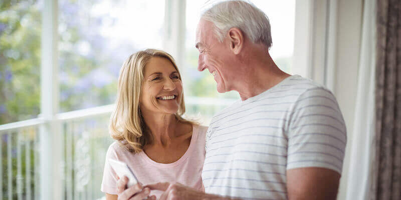 Image of a couple after using our we buy any house service
