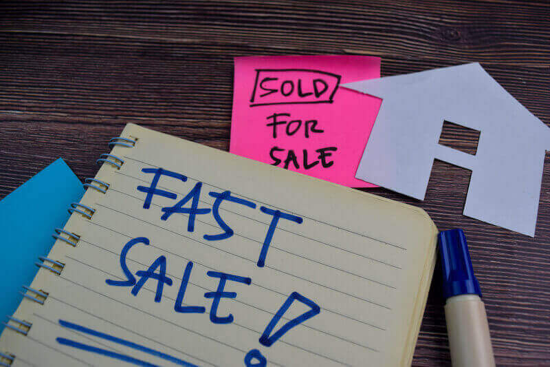 """Cash house buyers """"Fast Sale"""" notepad"""