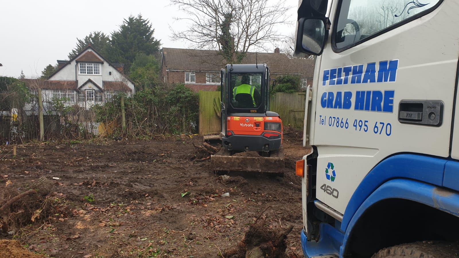 Skip hire demolition site London