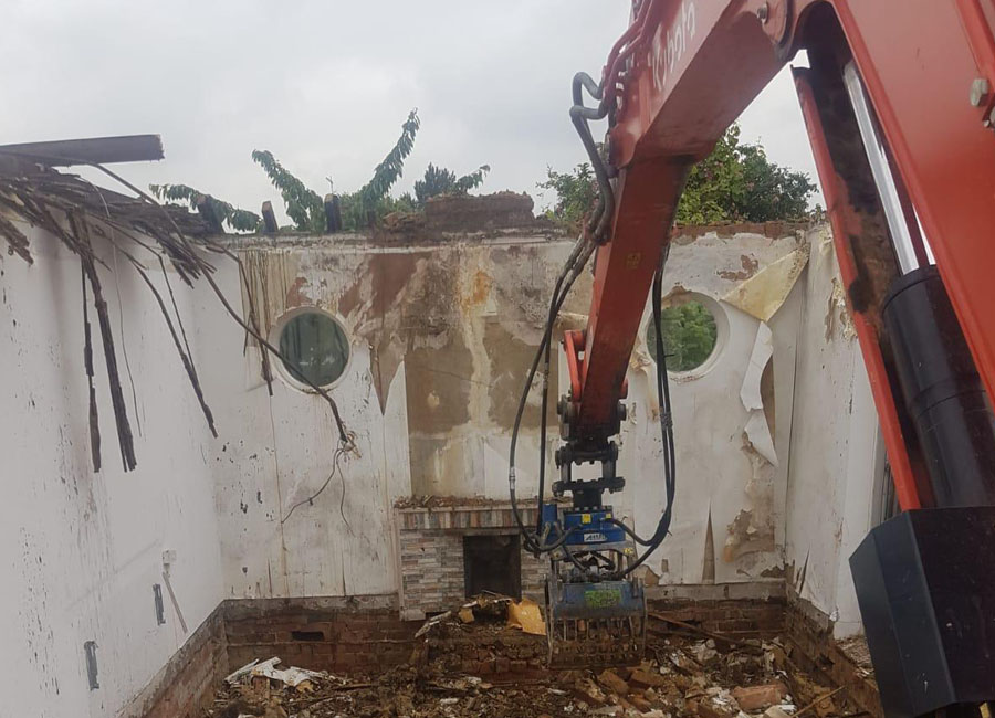 Total demolition of house in West London