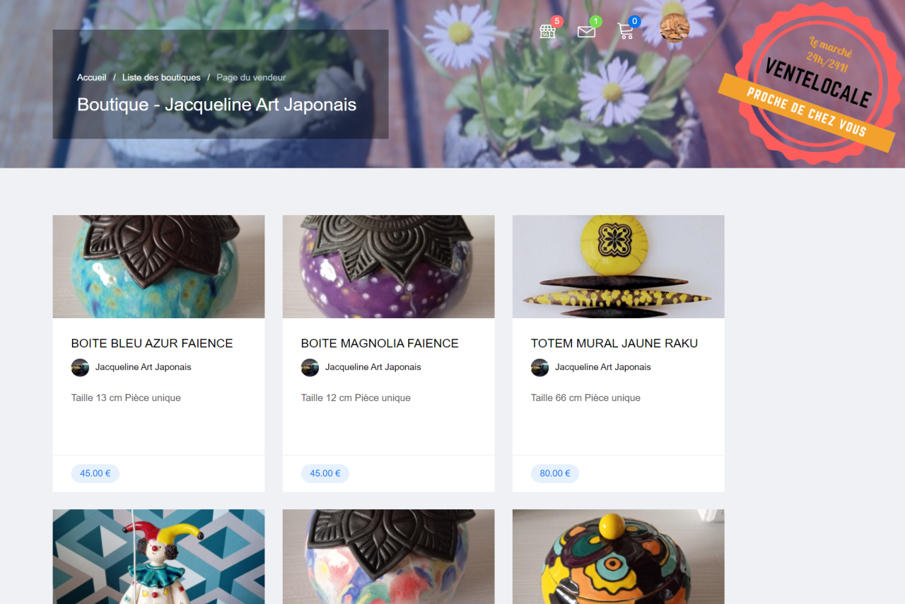 Plateforme 'e-boutique' de vente en ligne gratuite