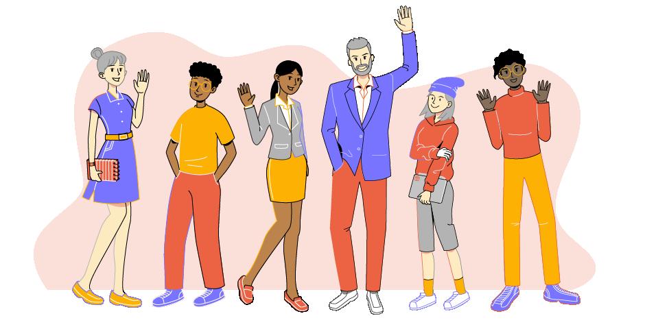 team members illustration